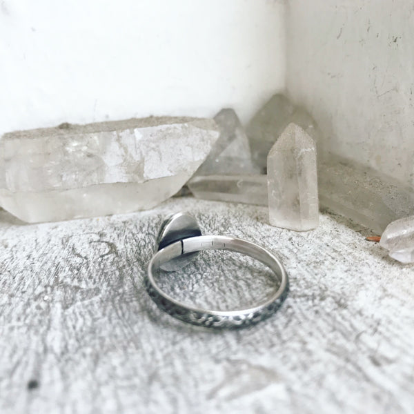 Opal Stacking Ring - Size just over 10 1/4 - Tír fo Thuinn Collection