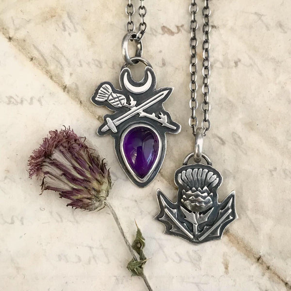MADE TO ORDER ✦ Order of the Thistle Sigil Pendant ✦ Choose Your Chain Length (from 16 to 22 Inches) ✦ The Thistle Armory Collection