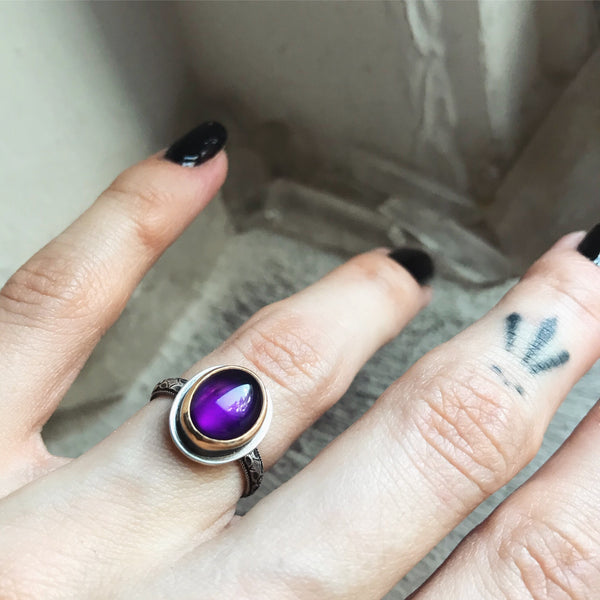 Amethyst Stacking Ring ✦ Size 4 3/4 ✦ The Thistle Armory Collection