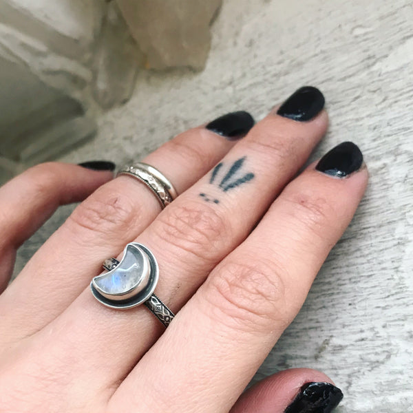 MADE TO ORDER ✦ Moon Magic Stacking Ring ✦ Choose Your Size ✦ The Age of the Cailleach Collection