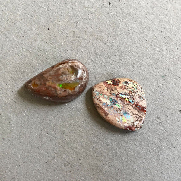 Mexican Fire Opal Cabochons - Set of 2