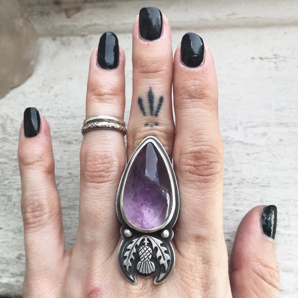 Thistle Sceptre Ring ✦ Size 8 ✦ The Thistle Armory Collection