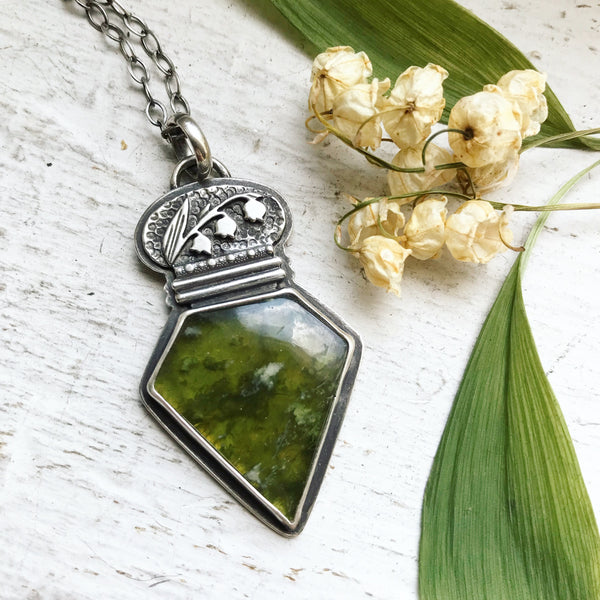 Lily of the Valley Elixir Pendant - 16 Inch Chain - Lily of the Valley Collection