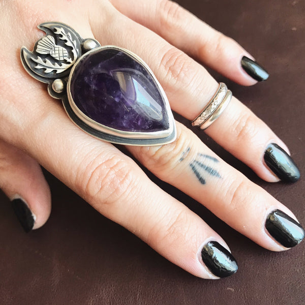 Thistle Sceptre Ring ✦ Size 10 ✦ The Thistle Armory Collection