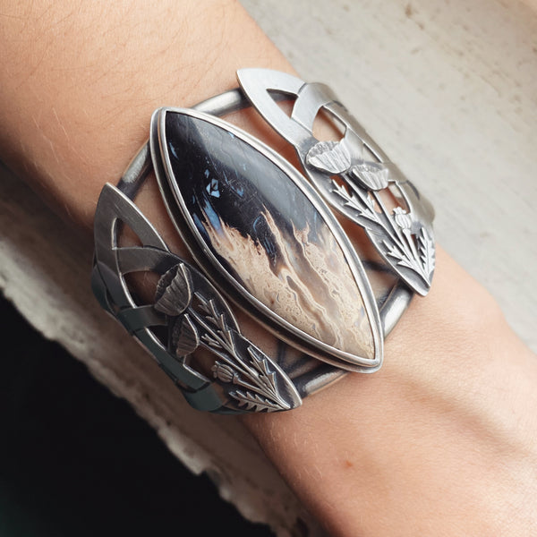 Persephone Triquetra Cuff ✦ 5 3/4 Inches Plus 1 Inch Gap ✦ Descent of Persephone Collection, Vol. VI