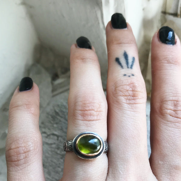 Vesuvianite Stacking Ring - Size 4 1/2 - Lily of the Valley Collection