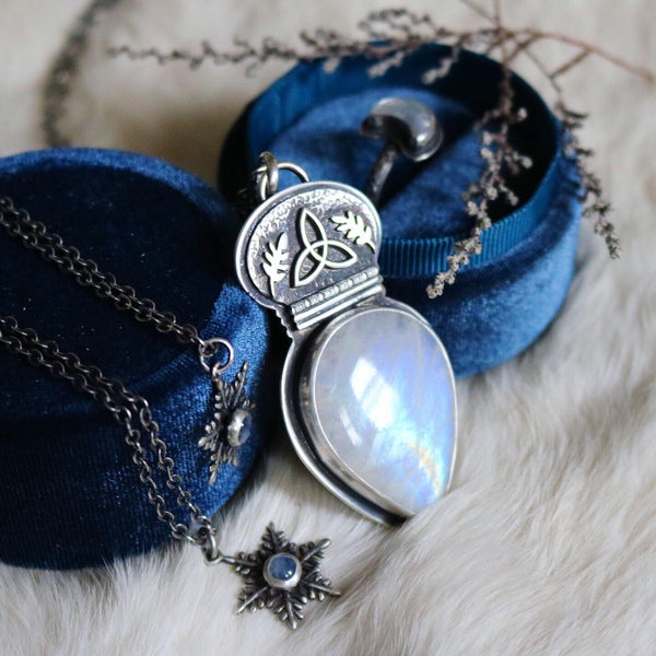 Winter Witch Pendant ✦ 18 Inch Chain ✦ The Age of the Cailleach Collection