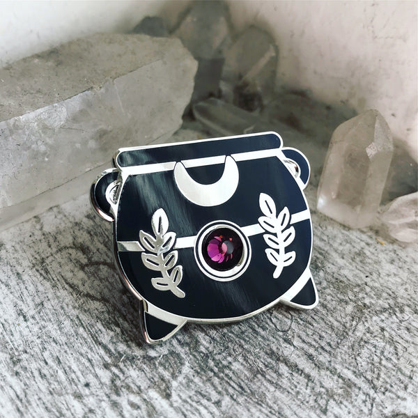 Amethyst Witch's Cauldron Pin