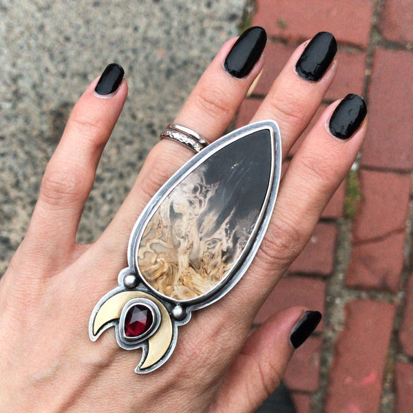 Not for Sale - Persephone's Sceptre Ring - Size 6 - Descent of Persephone Collection, Vol. V