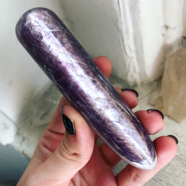 Gem Lepidolite Wand - The Cruellest Month Collection