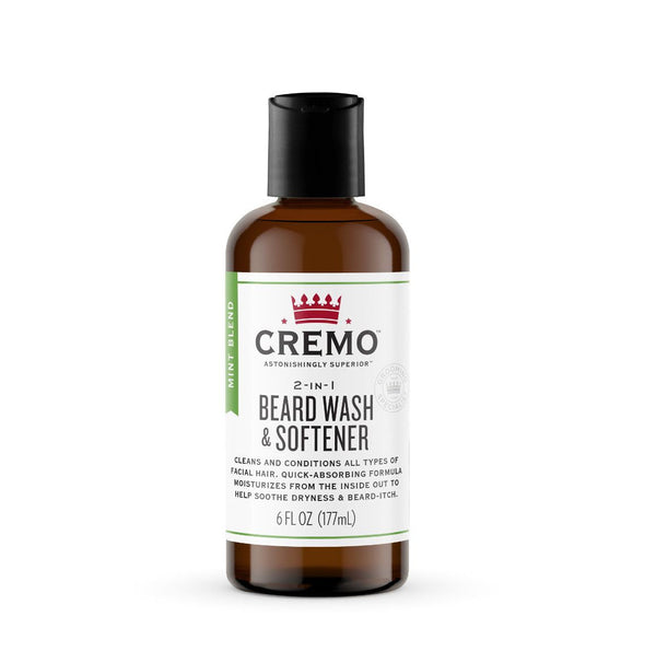 Cremo Mint Blend 2 in 1 Beard Wash and Softener