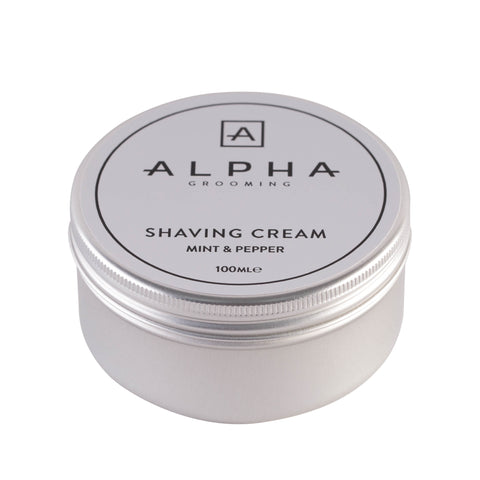 Alpha Grooming Mint and Pepper Shaving Cream