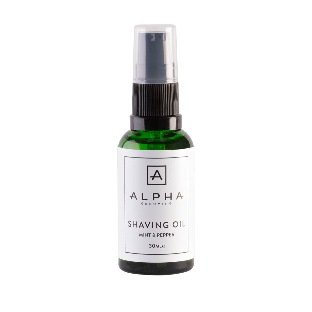 Alpha Grooming Shaving Oil, Mint and Pepper