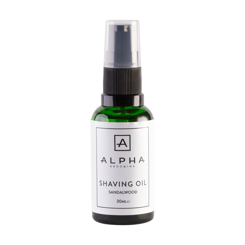 alpha grooming shaving oil sandalwood fast shipping the beard shed. Black Bedroom Furniture Sets. Home Design Ideas