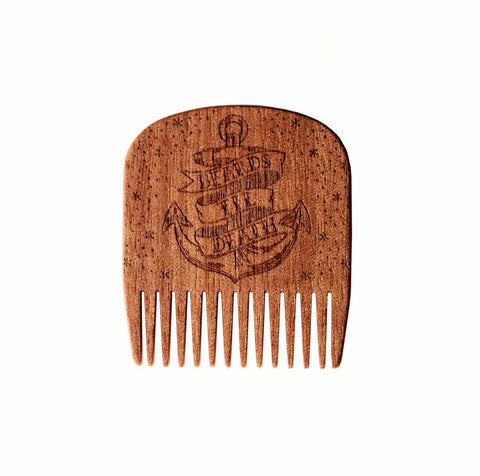 Big Red No.5 Beards Til Death Anchor comb