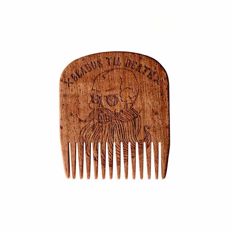 Big Red - No.5 Comb, Beards Til Death Skull - Special Edition - Makore