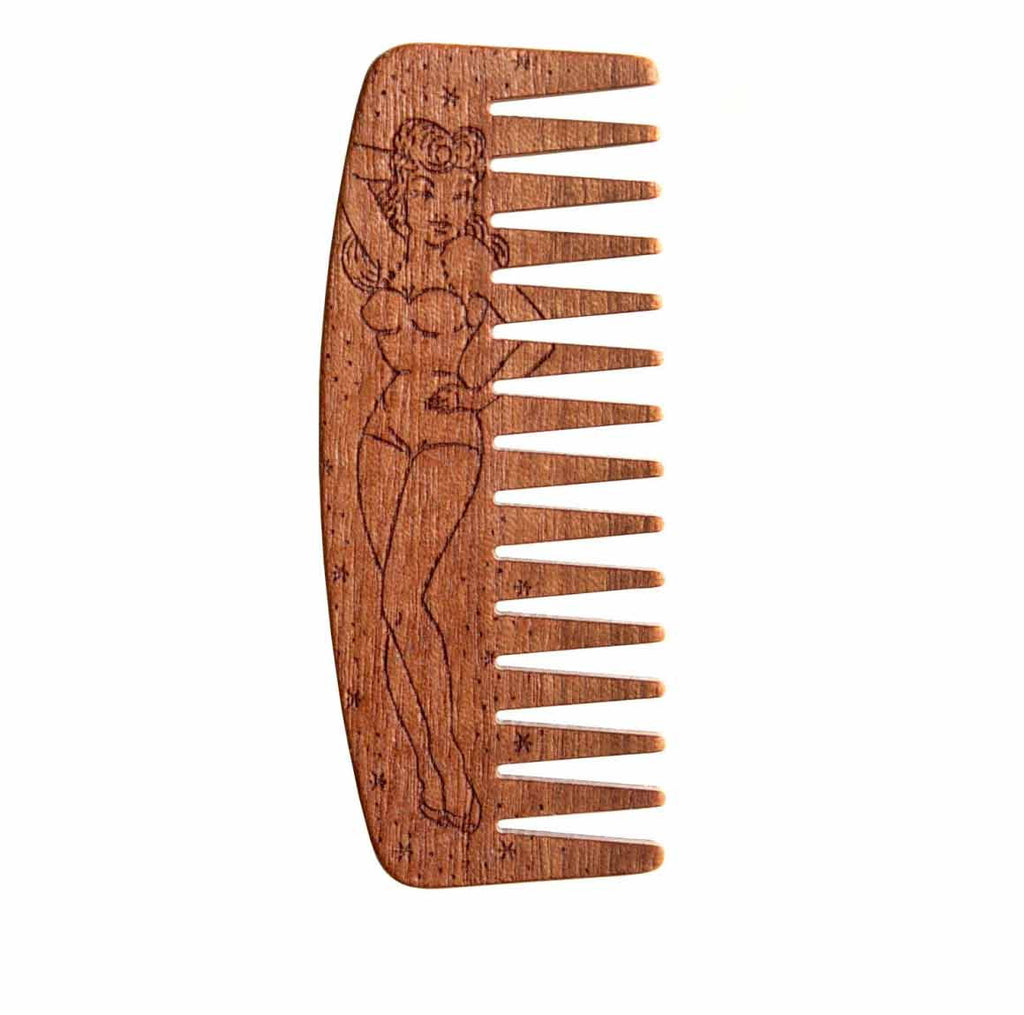Big red no.9 pin up comb