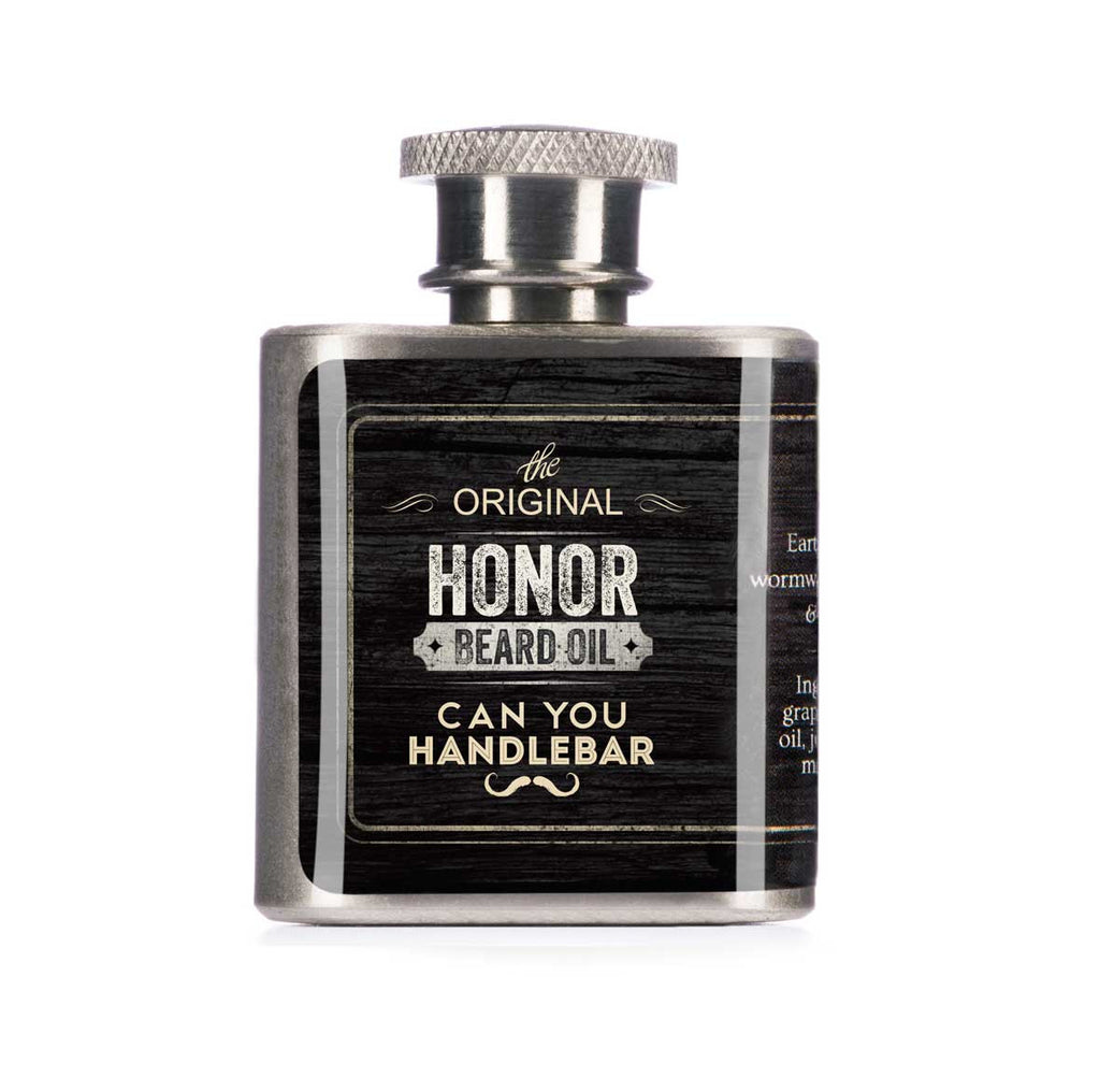 Can You Handle Bar Beard Oil Flask Honor