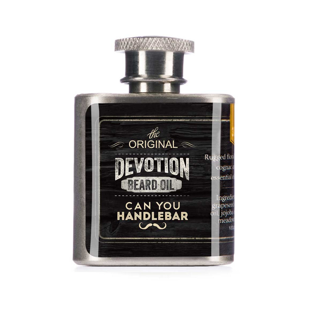 Can You Handle Bar Beard Oil Flask Devotion