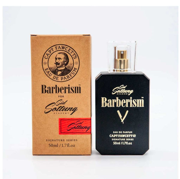 Captain Fawcett, Barberism Eau De Cologne by Sid Sottung