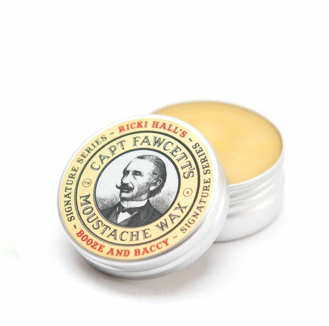 Captain Fawcett - Booze and Baccy Moustache Wax by Ricki Hall (15ml)