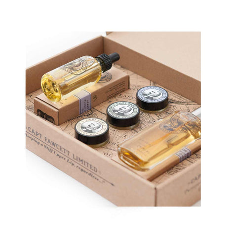 Captain Fawcett - Eau De Parfum, Moustache Wax & Beard Oil Gift Set