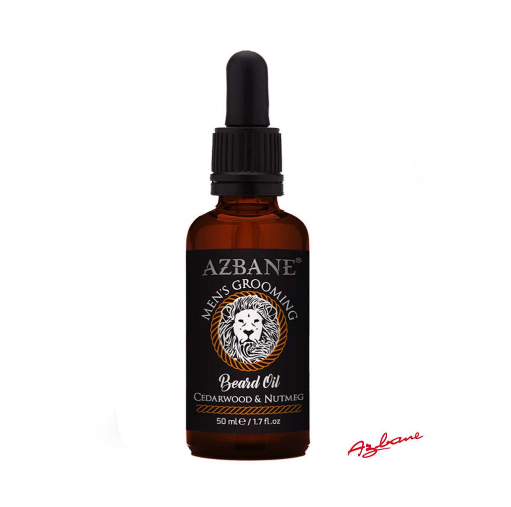 Azbane Cedarwood and Nutmeg Moroccan Argan Beard Oil