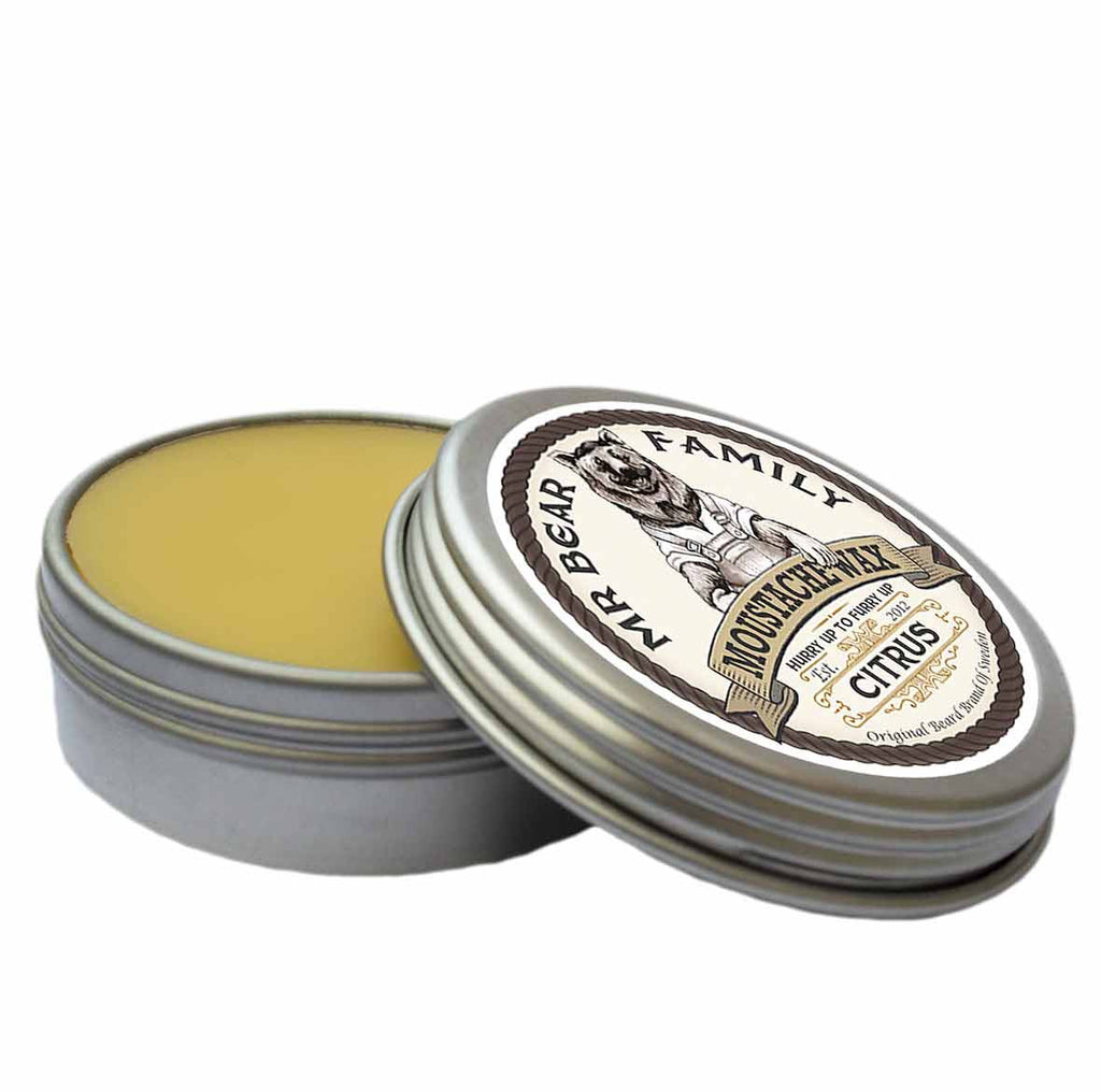 Mr Bear Family Citrus Moustache Wax