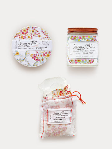 Honeycomb Gift Trio: Candle, Milk Bath & Parfum Crema