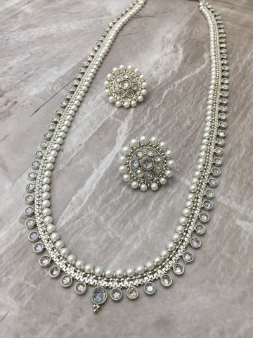 silver long chain set