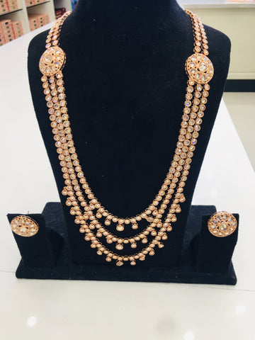 Rose gold long chian  set