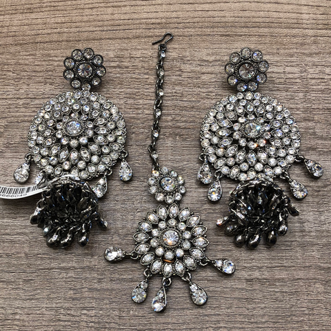 Oxidized Earring Tikka set