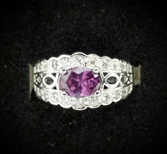 Beautiful purple cz ring