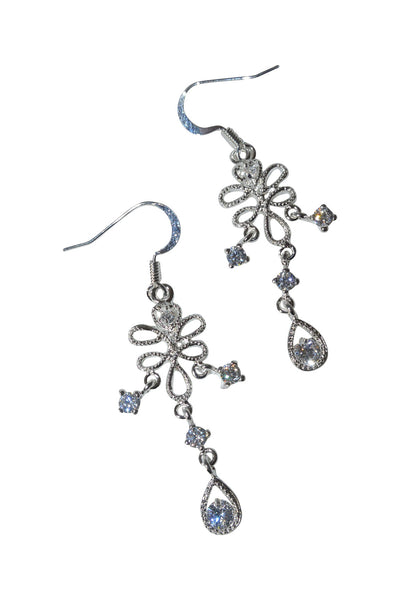 Chandelier Dangle CZ & Sterling Silver Earrings