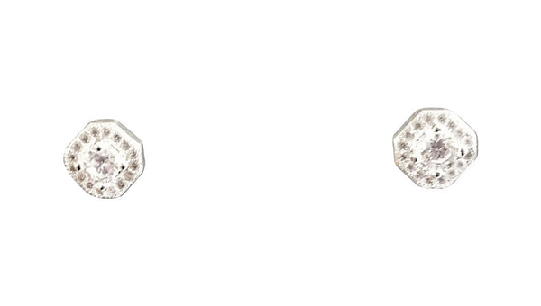 Cz post earrings
