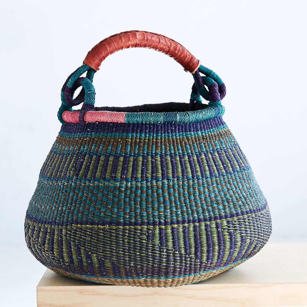 Pot Shaped African Bolga Basket - GPS6150118