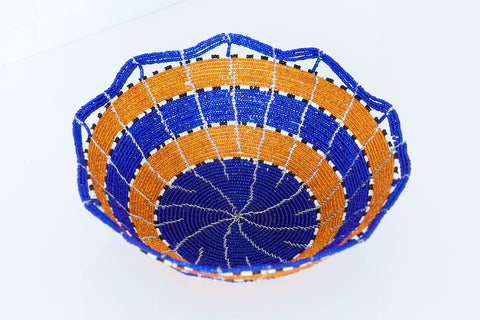 Kenyan Beaded Bowl - KBB6142418