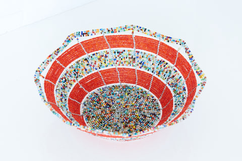 Kenyan Beaded Bowl - KBB6142518