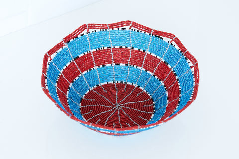 Kenyan Beaded Bowl - KBB6142618