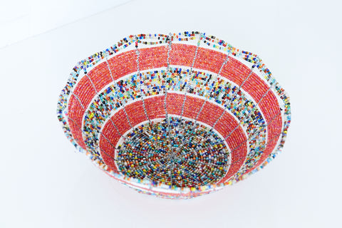 Kenyan Beaded Bowl - KBB6142718