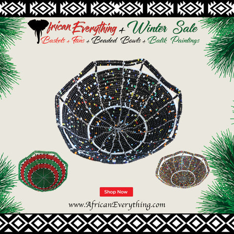 3 Kenyan Beaded Bowls Winter Gift Special