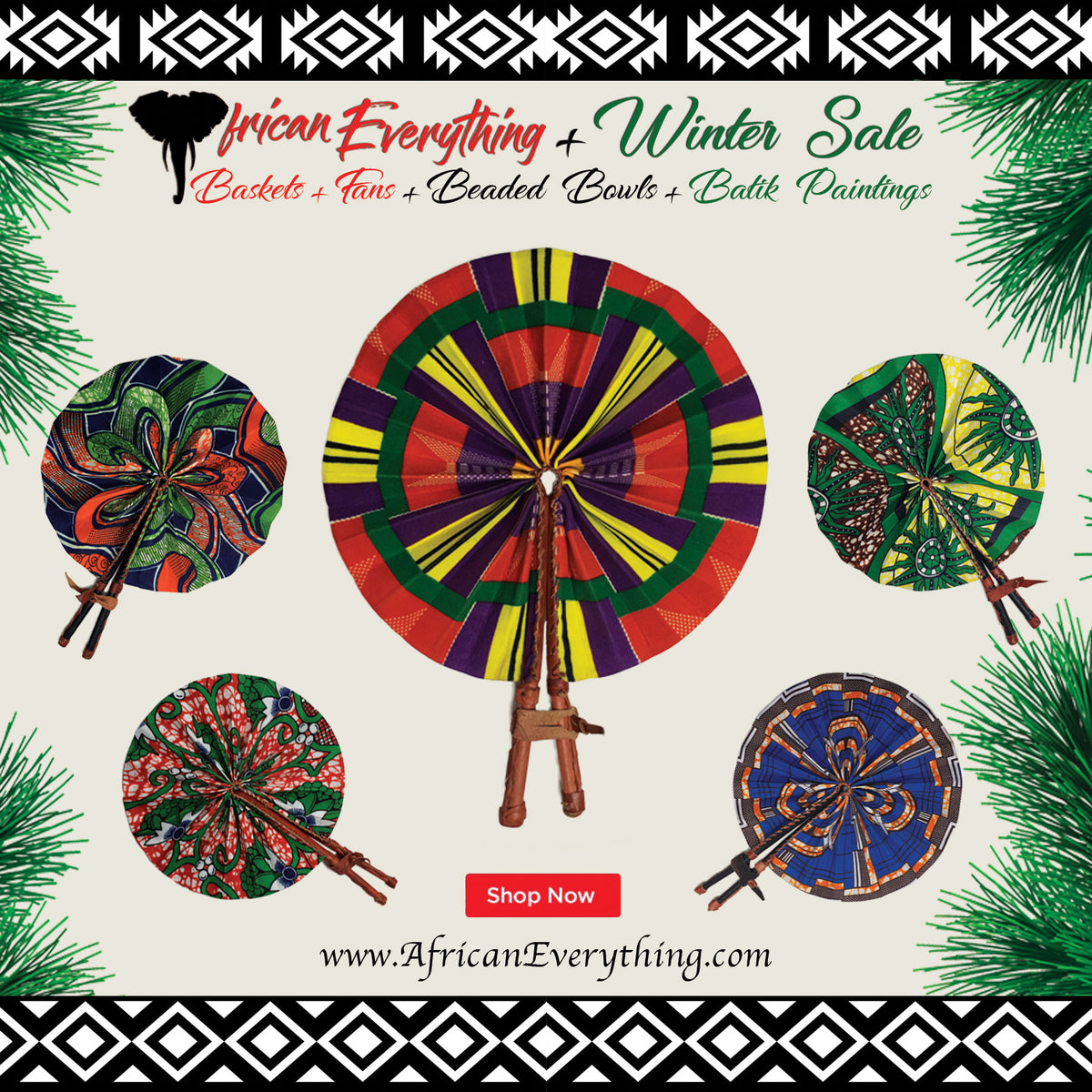 2 African Clothed Fans Winter Gift Special