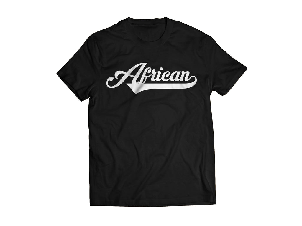 African T-Shirt - Black/White