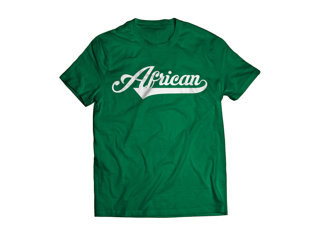 African T-Shirt - Green/White
