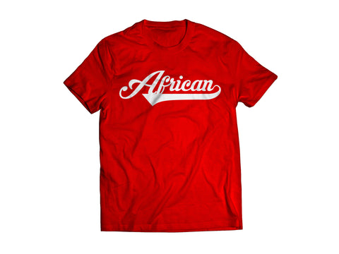 African T-Shirt - Red/White