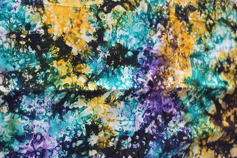 African Fabric - Hand Painted Batik - 4 Yard Piece