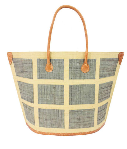 Madagascar Square Tote - Gray