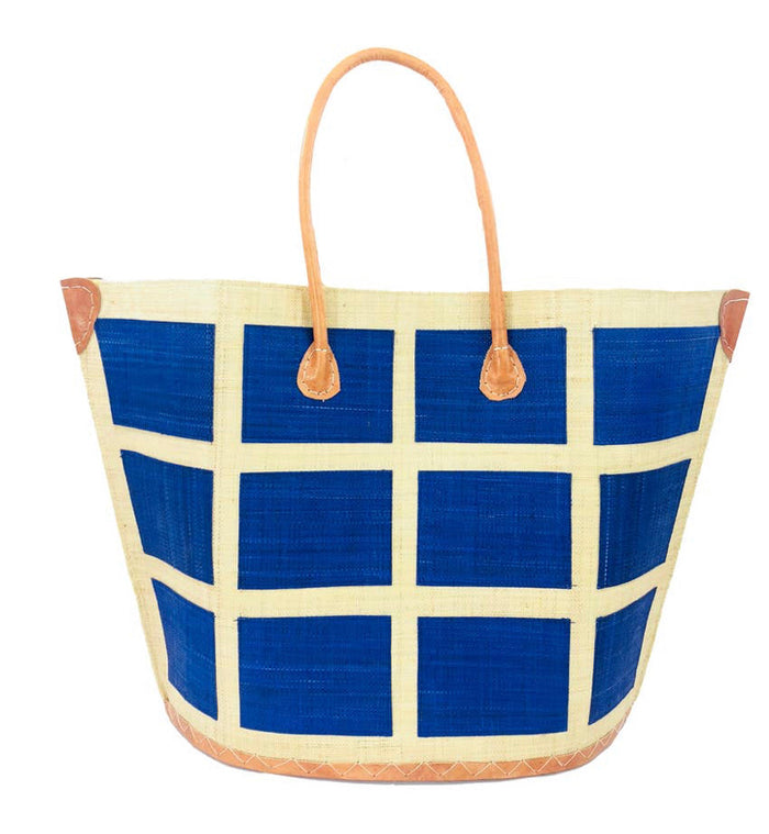 Madagascar Square Tote - Blue