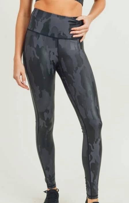 Charcoal Camo Athletic 2 pc