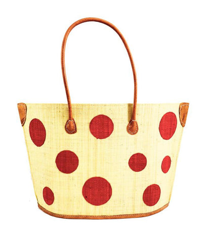 Madagascar Circle Tote - Red